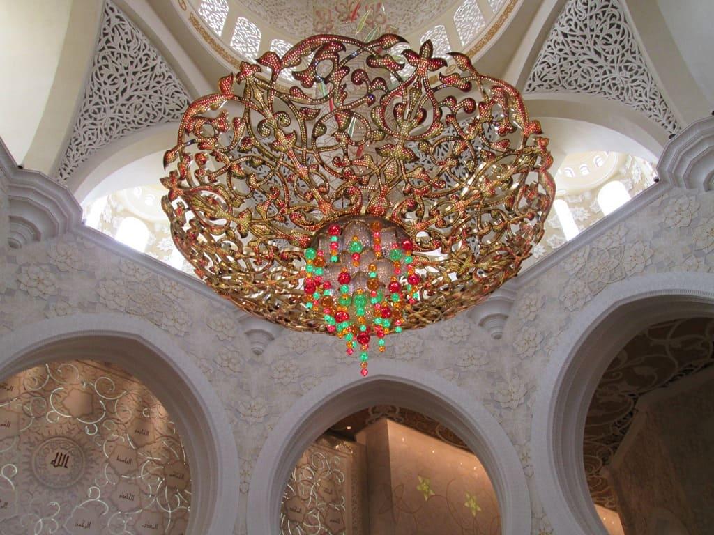 Люстра мечеть Абу Даби
