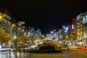 Вацлавсая площадь ночью