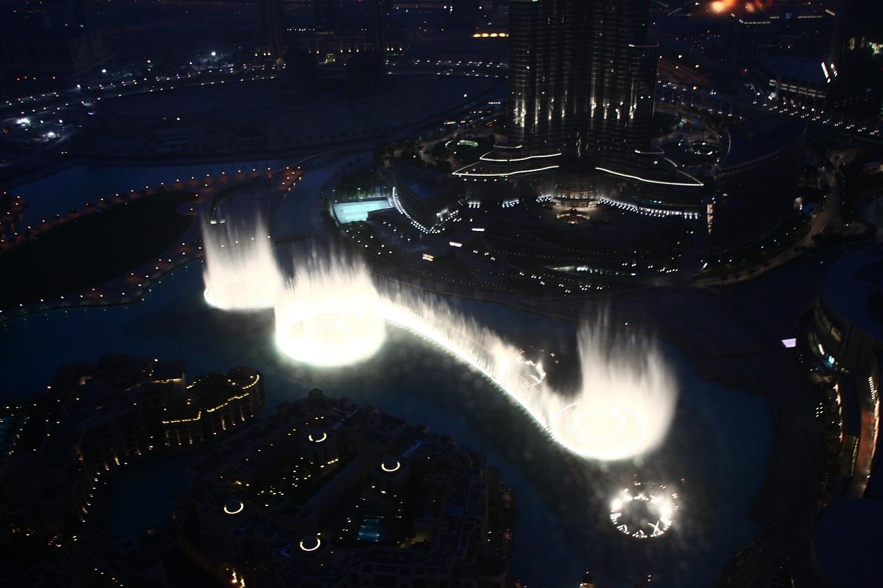 Фонтан ночью-Дубай