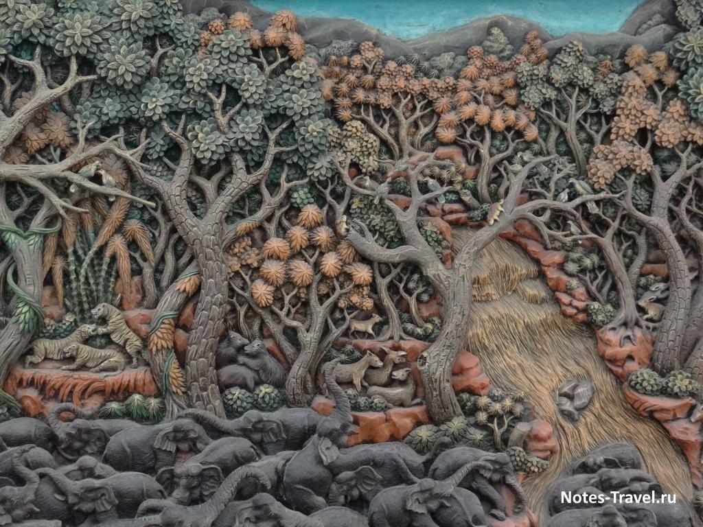 Картина из тикового дерева